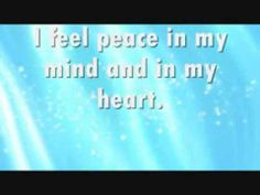 Affirmation: I feel peace in my mind and in my heart.  This affirmation is read verbally once before being sped up and repeated supraliminally two hundred additional times in various formats.  For Best Results: Listen to the recording while saying the affirmations to yourself and visualizing the outcome you desire.  For more information, or to make a request, please visit my blog at ManifestChange.Blogspot.com