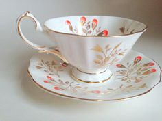 Princess Anne Tea Cup and Saucer Bone China Tea by AprilsLuxuries