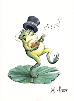 tree frog by Phil Garcia - Google Search Ukulele Tattoo, Frog Tattoos, Types Of Guitar, Frog Art, Cute Frogs, Frog And Toad, Comic Artist, Art Drawings, Illustration