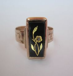Antique Victorian Flower Inlay on by magwildwoodscloset, $135.00