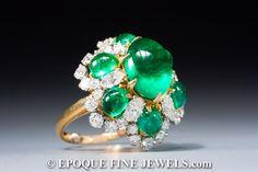 Bulgari ,A very fine emerald and diamond ring,
