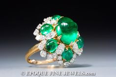 Bulgari ,A very fine emerald and diamond ring,