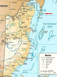 Map of belize central american countries belize map history find out everything from currency to culture here in belize gumiabroncs Images