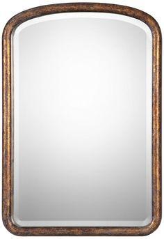 "Vena Antiqued Gold Leaf 26 1/2"" x 38 1/4"" Wall Mirror - #14G48 | Lamps Plus"