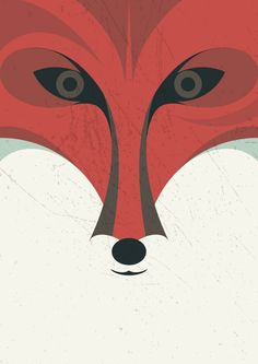 fox animals by Luca Morandini , via Behance