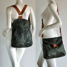 BM3 double use messenger/ backpack cool green with by vadenuevocr - StyleSays