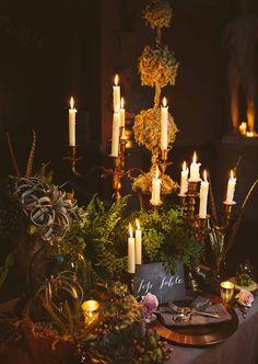 Whimsical Wedding, Woodland Wedding, Floral Wedding, Wedding Flowers, Gold Candelabra, Wedding Stuff, Dream Wedding, Enchanted Garden Wedding, Wedding Events