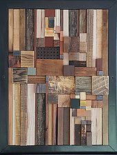 - Wood Art - Building Around the Well by Heather Patterson (Wood Wall Sculpture Building Around the Well by Heath. Reclaimed Wood Projects, Reclaimed Wood Art, Small Wood Projects, Scrap Wood Projects, Diy Wood, Art Projects, Scrap Wood Art, Wooden Wall Art, Diy Wall Art