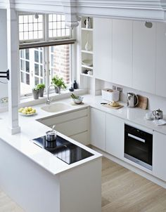 cuisine en pp, parquet chene massif clair pas cher, meubles de cuisine blancs