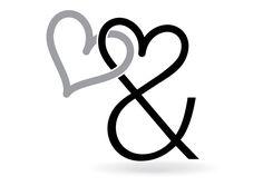 Hartje en &-teken.  Het &-teken wordt wel ampersand genoemd, de ampersand is een combinatie van de letters e en t van het Latijnse et (= 'en'). Deze letters werden samen verkort weergegeven als &. Ook wel het en-teken of et-teken genoemd. Typografie. http://markrademaker.nl