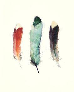 Feathers Art Print by Amy Hamilton via society6