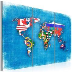 Quadro - Bandiere del mondo: trittico