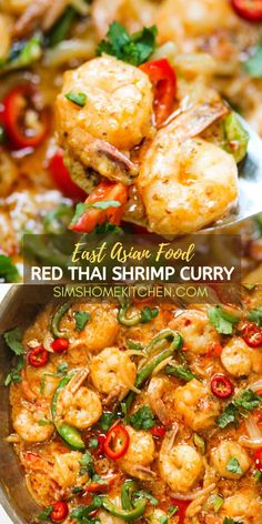 This creamy, aromatic Thai Shrimp Coconut Curry is the perfect restaurant-quality weeknight dinner for seafood lovers. It is filled with authentic East Asian flavors and it is easy to make. Serve with coconut rice, jasmine rice, egg fried rice or noodles.