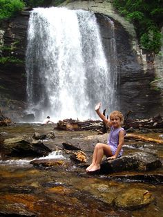 """Brevard, NC. """"Land of Waterfalls"""" — day hikes surround you with some of the most spectacular waterfalls in America."""