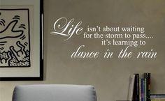 Dance in the rain decal sticker wall vinyl by dabbledownJunior, $14.00
