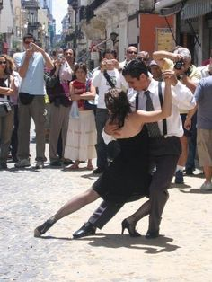 Argentine tango in the streets of San Telmo, Buenos Aires.