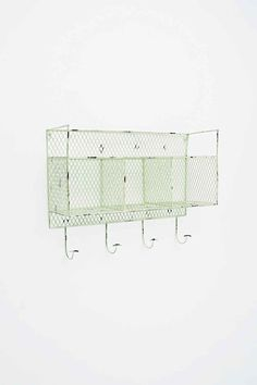 Metal Wall Shelf in Green - Urban Outfitters from Urban Outfitters. Shop more products from Urban Outfitters on Wanelo.
