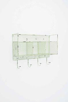 Metal Wall Shelf in Green