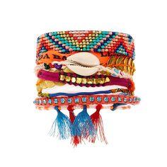 Bracelet brésilien Hipanema Cuzco doré et multicolore - une idée cadeau dénichée…