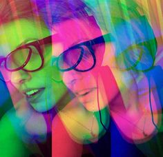 Trippy visions with h0les eyewear glasses