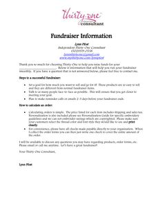 Sample Letter For Storefront Fundraising