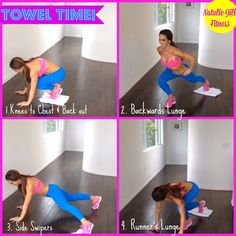 Grab a towel and let's get to work!!! Click the image for more workouts like these !