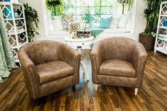 Add a DIY Faux Leather Chair to your guy's man cave! For more stylish DIYs, watch Home & Family weekdays at 10a/9c on Hallmark Channel!