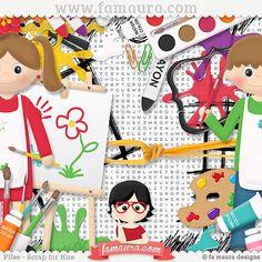 Kit - Pintar e Escrever by Fa Maura