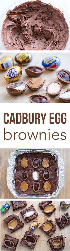 Cadbury Egg Brownie Recipe ...these brownies are rich, chocolaty and completely irresistible. The perfect Easter dessert.
