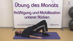 Kräftigung und Mobilisation unterer Rücken - Übung des Monats by fitkurs.de