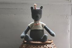 LÉONIE grey rag doll handmade in France.  by luci soli on Etsy