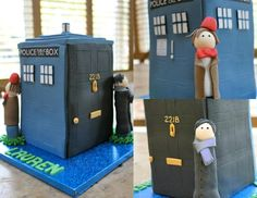 Doctor Who & Sherlock cake mash-up