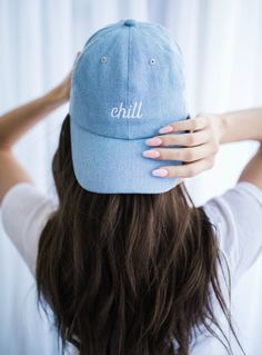 86ddfeb542d Embroidered Hat. Chill Hat. Instagram Profile Picture Ideas