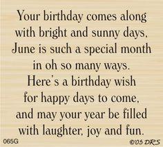June Birthday Greeting