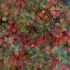 ~ Fern Flower Patch Batik Fabric