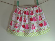 Girls Skirt Twirl Skirt Apples Pink Pears by SouthernSeamsKids