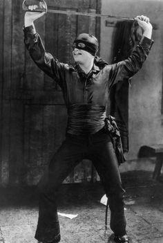 """I meant, the other left."" (Douglas Fairbanks as Zorro)"