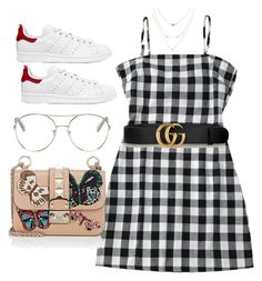 """Untitled #4390"" by dkfashion-658 ❤ liked on Polyvore featuring Gucci, adidas Originals, Chloé and Valentino"
