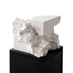 By Chris Cornish and Alison Moffett Concrete Sculpture, Sculpture Art, Rhino Architecture, Cube Design, 3d Design, Cardboard Model, St Pierre, Arch Model, Abstract