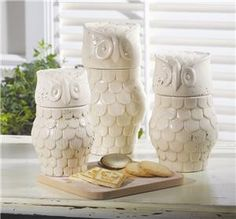 Owl Canisters for my kitchen