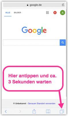 iPhone: Alle Tabs im Safari sofort schließen - TechMixx Ios, Google, Safari, Iphone, Pictures