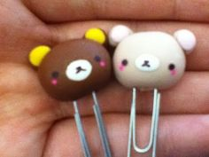 Free Rilakkuma Paperclip Tutorial for Polymer Clay by jellyfishcharms