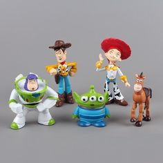 Toy Story CAKE TOPPER Woody Buzz Lightyear Jessie Bullseye 5 Figure Set Birthday Party Cupcakes Mini Figurines Disney * FAST Shipping * by BiancasBoutiqueBows on Etsy https://www.etsy.com/listing/218240598/toy-story-cake-topper-woody-buzz