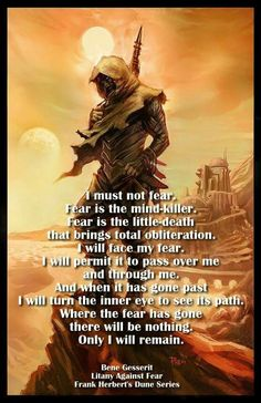 Dune, litany against fear.
