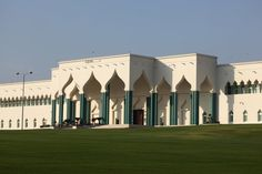 Emiri Diwan (the Emir's Palace) today, with lush green grass and well-kept grounds #Doha #Qatar #Qatarism