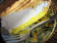 Sugar Free Lemon Meringue Pie - photo of actual dish. Has taste and texture of the real deal. Very lemony - no one would think it was sugar free as Truvia and freshly grated lemon zest and juice make this dessert sing!