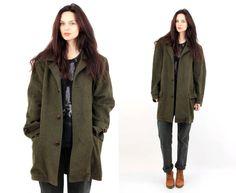 Vintage Tyrol Khaki Military Wool Men Jacket / Coat Size M by Ramaci on Etsy