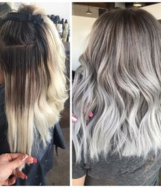 MAKEOVER: Grown-Out and Faded To Silver Melt - Hair Color - Modern Salon