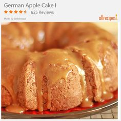 German Apple Cake I | Happy Rosh Hashanah! Drizzle this apple cake with honey for a sweet new year!