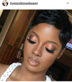 Melanin & Honey- Cee is known for delivering luxury makeup experiences f. - make-up - Dark Skin Makeup, Eye Makeup, Hair Makeup, Matte Makeup, Soft Makeup, Black Natural Makeup, Natural Beauty, Lipstick For Dark Skin, Brown Lipstick